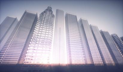City skyline, illustration