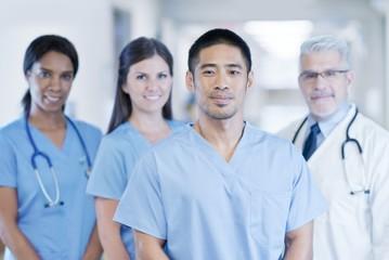 Multiracial medical team