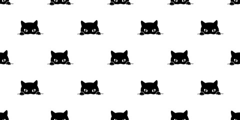 cat Seamless Pattern vector kitten isolated kitten background wallpaper