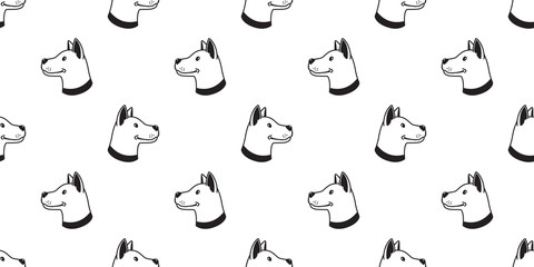 Dog Seamless Pattern vector bulldog hound wallpaper tile background isolated