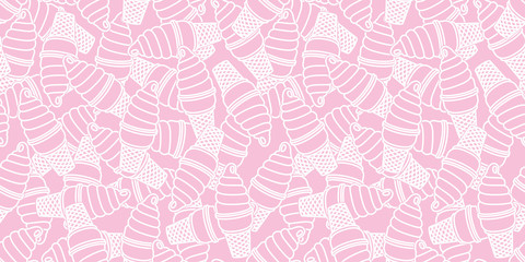 ice cream Seamless Pattern Twisted cone vector isolated background wallpaper pink