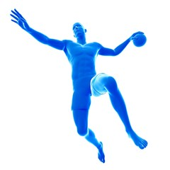 Handball player, illustration