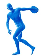 Discus thrower, illustration