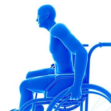 Person in wheelchair, illustration
