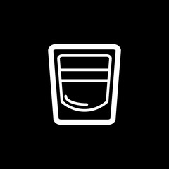 shot glass icon vector. cocktail illustration.