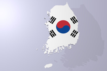 A 3d rendering of south korea