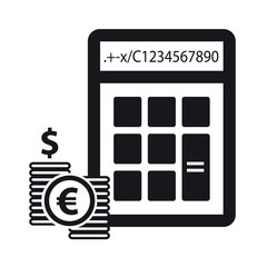 Calculator And Money - Financial Concept - Vector Icons