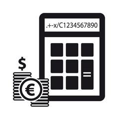 Calculator And Money - Financial Concept - Vector Icons