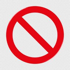 Forbidden Sign - Transparent Background