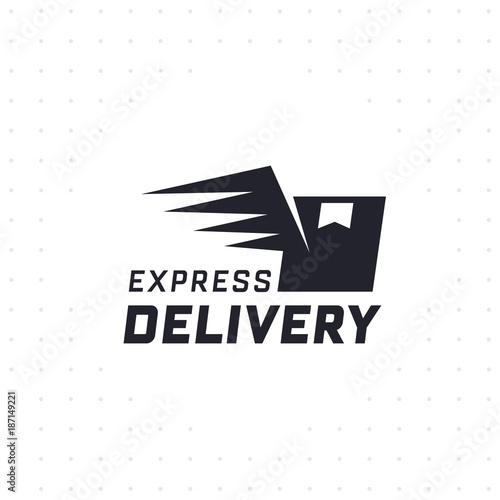 Express delivery in black color  Delivery label for online