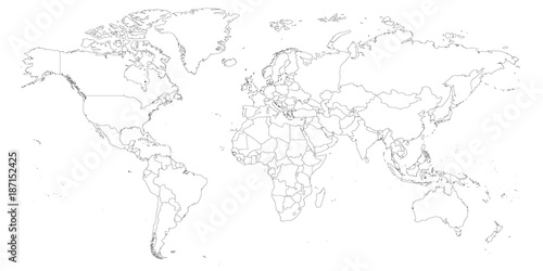 Map Of The World Test.Blank Outline Map Of World Worksheet For Geography Teachers Usable