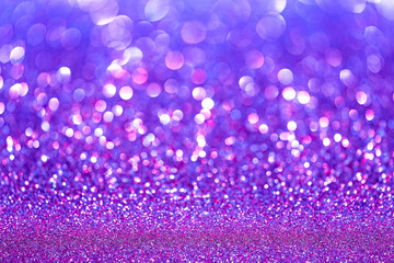 Purple and Pink Abstract Background with Bright Bokeh Lights