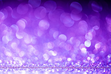 Ultra Violet Abstract Background with Bright Bokeh Lights