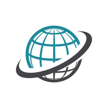 World logo icon with swoosh graphic element