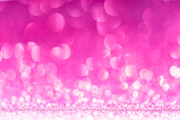 Pink Abstract Background with Bright Bokeh Lights