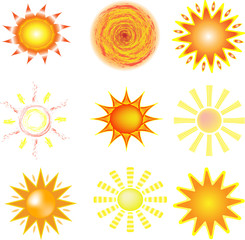 sun with yellow rays