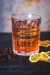 Close-up of alcohol in a glass.