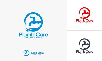 Plumbing Care logo designs vector