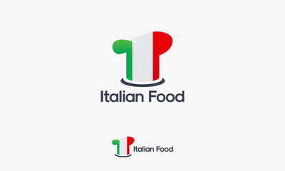 Italian Chef logo template, Italian Food logo designs vector