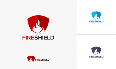 Fire Shield logo template designs