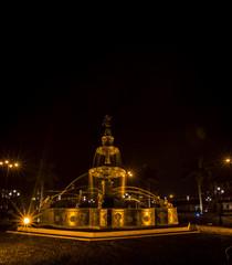 Fountain at night Lima Peru