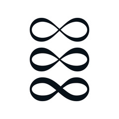 Simple infinity symbol set