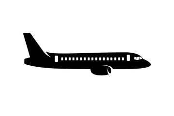 Commercial plane silhouette