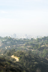 View of Los Angeles California from Griffith Observatory