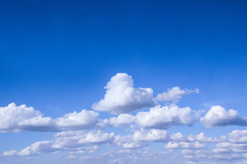 The sky is bright white clouds for business ideas.