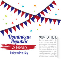 Independence Day of Dominican Republic Design Illustration Template