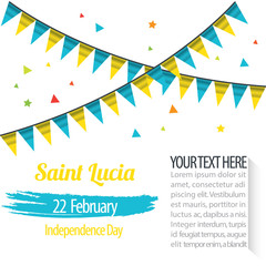 Independence Day of Saint Lucia Design Illustration Template