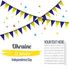 Independence Day of Ukraine Design Illustration Template