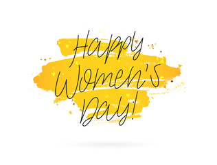 Happy woman's day. March 8. Gift card