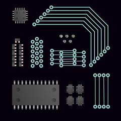Electric cpu vector illustration.