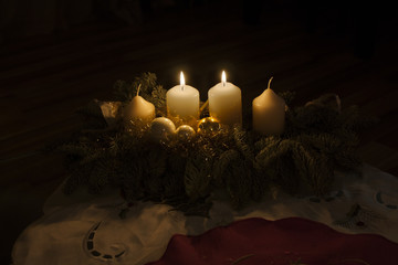 second advent candles burning