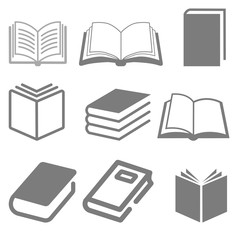 Modern Book Icon Set