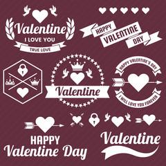 Fotobehang Vintage Poster Valentine template banner Vector background for banner