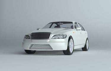3d illustration of a luxury sports car