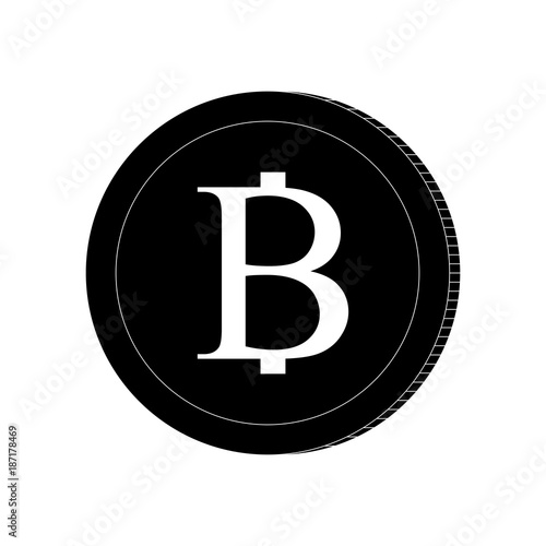 Currency Cion Thai Baht Cion Icon Black And White Logo Stock
