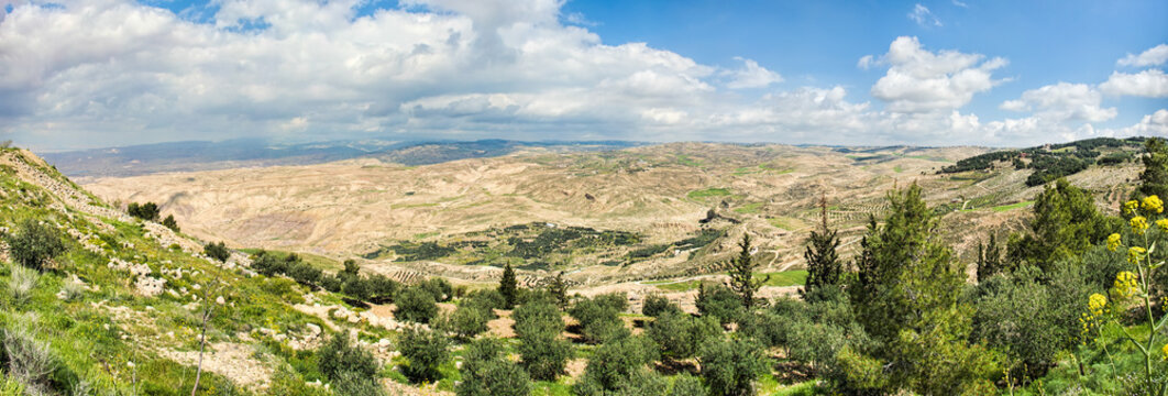 View of the promised land as seen from Mount Nebo in Jordan