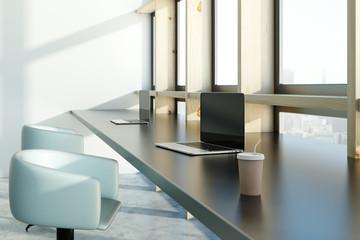 Stylish coworking interior