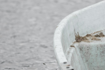 Close-up of a part of a boat