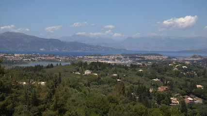 View from Achilleion, Corfu, Greece