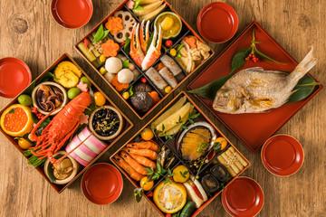 典型的なおせち料理 General Japanese New Year dishes
