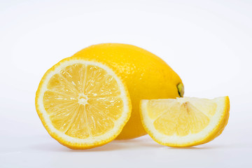 fresh and delicious lemon isolated on white background