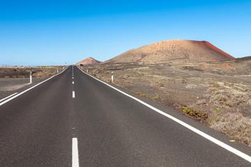 Lanzarote road landscape, Canary Islands