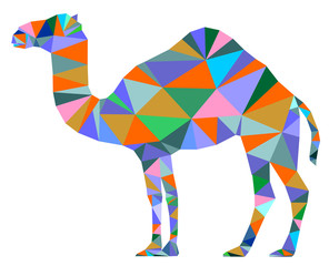 Camel color geometric symbol vector eps 10