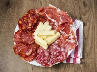 Tapa de productos españoles