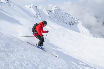 souverän im freien Gelände skifahren