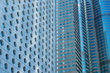 Office buildings, modern glass and metal. Hong Kong.